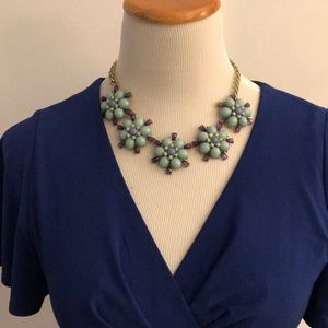 Statement Necklace with turquoise and blue stones